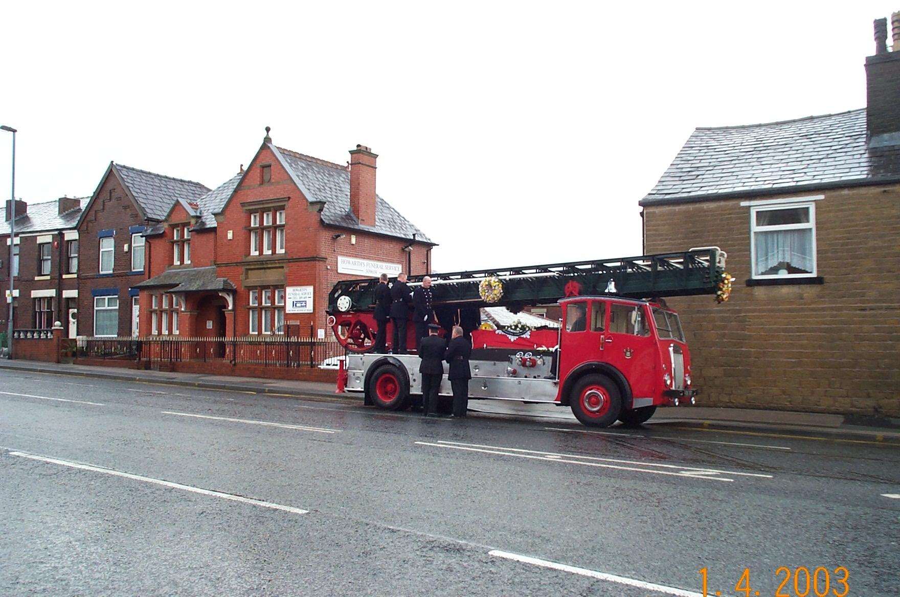 Fireman's Funeral Bolton