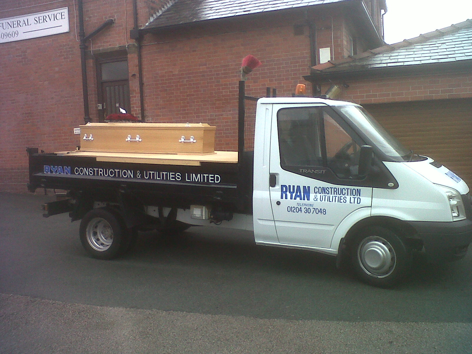 A gentleman's own van was used to transport his coffin